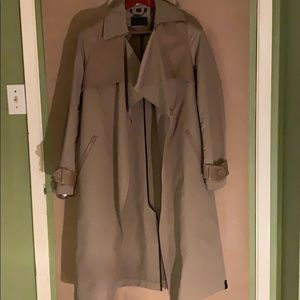 NWT Rudsak trench coat with leather trim
